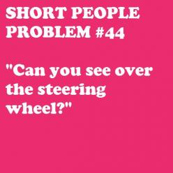 If I had a penny for every time I've heard that one... I'd be RICH.: Car, Short People Problems Funny, Dad, Short Problems, Quotes, Steering Wheels, Short Girl Problems, Shortpeopleproblems Tumblr Com