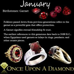 January Birthstone Information & Lore  #Birthstone #January #Garnet: Garnett January, January S Birthstone, Birthstones January, Birthday January, Birthstone January, January Birthstones, January Garnet