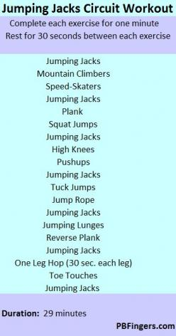 Jumping Jacks Circuit Workout: Circuit Workouts, Fitness, Jack O'Connell, Cardio Circuit, Cardio Workout, At Home Workout, Interval Training, Jacks Circuit, Jumping Jacks