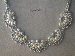 Les perles Crystal d'Oz: Pearl Filigree: Beaded Jewelry Ideas, Beading Patterns, Pearls, Beads, Beaded Pearl Necklaces