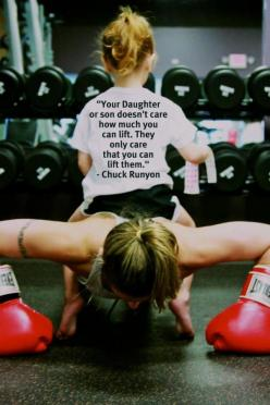<3 this. my kids routinely want pony rides and I can give them both a pony ride at the same time (all 60+ lbs!!): Fit Workout, Workout Health, That, Fitness Inspiration Motivation, Workouts, Daughter, Motivation Fit, Fitness Quotes, Fitness Motivation