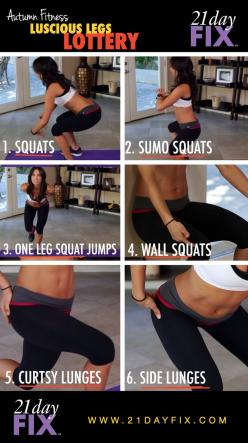 Luscious Legs Workout | Autumn Fitness | 21 Day Fix | Quick Fix Workouts Check out Dieting Digest: Legworkout, Lower Body, 21 Day Fix, Work Out, 21Dayfix, 21 Days, Leg Workouts, Legs Lottery