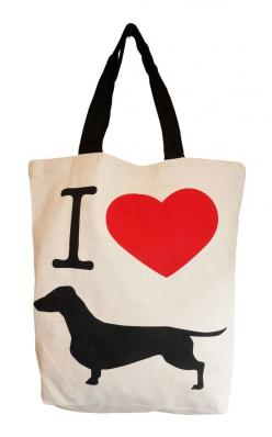 """New """"Doxie Love"""" tote from Bean Store on #NYLONshop! #dachshund #wienerdog: Animals, Weenie Dog, Teckel Dachshund Wiener Doxie, Doxies, Dachshund Accessories, Wiener Dogs, Products, Doxie Tote, All"""