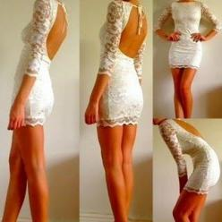 Oh my! This is fabulous for a bachelorette party or rehearsal dinner! Note to self...work out and stop eating so much ice cream...: Fashion, Rehearsal Dinner, Style, Wedding, White Lace, Lace Dresses
