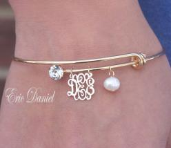Personalized Monogram Bangle Alex and Ani by EricDanielDesigns, $65.00 In silver would be fabulous!: Monogram Bangle, Personalized Monogram, Ani Bracelet, Monogram Bracelet, Alex And Ani, Ani Inspired, Alex Ani, Alex O'Loughlin, Bridesmaid Gift