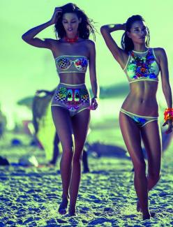 Personally I don't like the swimsuits, I mean they are absolutely gorgeous but not my style. What I liked about them is that they look SO COOL IN THAT PICTURE (and on them)!!!: Blue Man, Fashion, Swim Wear, Style, Bikinis, Swimwear, Swimsuits, Summer,