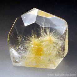 Quartz crystal w/ Rutile star inclusions- Brazil: Star Inclusions, Rutile Star, Gems Minerals Crystals, Quartz Crystal, Rutilated Quartz, Rocks Gemstones Fossils, Rocks Gems Minerals, Gemstones Minerals Rocks, Rock Mineral Gemstone