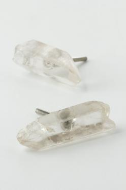 Rock Crystal Knob   could make these as amazing stud earrings too   anthropologie originally but time for a hack: Crystals, Anthropologie Knobs, Crystal Knobs, Anthropologie Com, Rocks, Products, Bedroom, Crystal Door Knobs