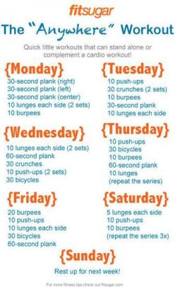 Serious about your 2013 health resolution? Need a realistic starting point with a plan? Then check out this workout plan. No thought all action!: Workoutplan, Health Workout, Daily Workout, Work Outs, Exercise, Fitness Workout, Weekly Workouts, Quick Work