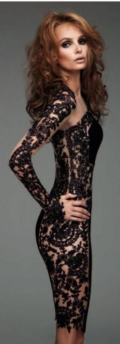 the black lace gown is stunning, but the body makes it. BANG!: Sexy Dresses, Dresses Fashion, Clothing, Black Laces, ️Black Lace Gowns ️, Closet, Black Lace Dresses, Little Black Dresses