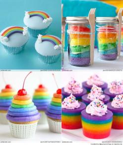 These are the perfect treats for a party!: Rainbow Cupcakes Great, Cupcakes Arcoiris, Rainbow Cupcakes ️, Rainbow Cupcakes Everything, Cupcakes Everything Rainbowy, Cupcakerecipes Food