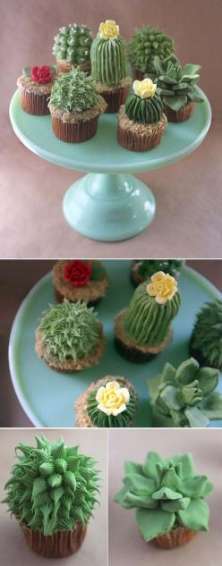 these cupcakes are so adorable i love them!: Cupcakes Cake, Cactus Cupcakes, Cupcake Picture, Food, Cool Birthday Cake, Cool Cupcake, Cool Cake