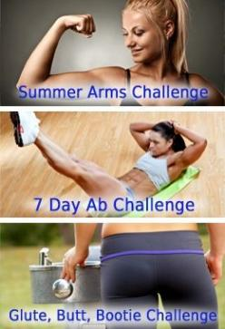 Top 3 Fitness Challenges ~ Arms, Abs and Butt: Body Workouts, Fitness Gear Tips Workouts, Arms And Abs Workout, Arm And Ab Workouts, Exercise, Abs And Arms Workout, Workouts Fitnesschallenge, Arms And Ab Workout, Fitness Challenges