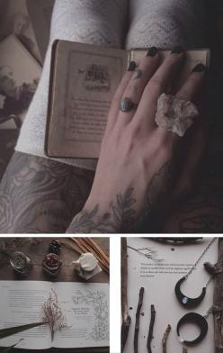 ριитєяєѕт: ıŋ۷σƙıŋɠѕ℘ιяιɬѕ: Books, Crystal Witchery, Witchcraft, We Heart It, Posts, Crystal Magic, Tattoo, Corner Of