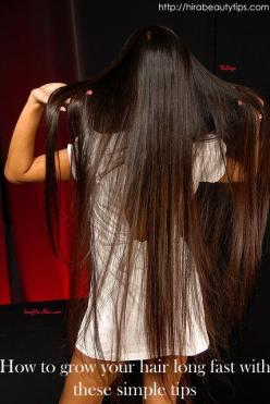 1: drink lots of water! 2:cut split ends often (twice every two months) 3: do not use heat  4: apply egg whites sparingly 5:comb often: Beauty Tips, Split End, Hair Trick, Long Hair, Hair Style, Long Fast, Hair Long