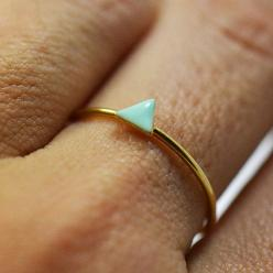 1 Tiny triangle ring- dainty ring- stackable ring- mini geometric ring. $35.00, via Etsy.: Triangle Ring, Dainty Ring