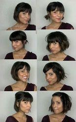10 awesome creative hairstyles. I had no idea one could do so much with short hair.: Short Hair Bang, Short Hair With Bang, Short Bob With Bang, Short Bob Haircut With Bang, Hair Style, Short Haircut With Bang