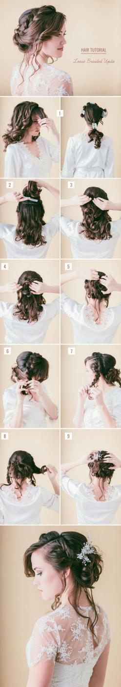 10 Best DIY Wedding Hairstyles with Tutorials | http://www.tulleandchantilly.com/blog/10-best-diy-wedding-hairstyles-with-tutorials/: Diy Prom Hairstyle, Braided Updo, Diy Wedding Hairstyle, Event Hairstyle, Hairstyles Updo, Hair Style, Masquerade Hairsty