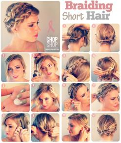 10 Fabulous Hair Tutorials For Short Hair: Easy Hairstyles, 10 Minute Hairstyles, Hairstyles, Hair Tutorials, Hair Styles, Easy Braided Hairstyles, Braid Hairstyles, Hairstyles For Short Hair