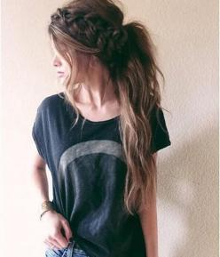 10 Lovely Ponytail Hair Ideas for Long Hair, Easy Doing Within 5 Minute: Hair Ideas, Messy Ponytail, Hairstyles, Hair Styles, Cute Hairstyle, Long Hair, Braids, Beauty