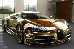 10 of the Weirdest Materials Ever Used to Make Cars. Gold, diamonds and EVEN Whale Penis. Click for more. #spon #supercars: Gold Bugatti, Bugatti Veyron, Luxury Cars, Cars, Dream Cars