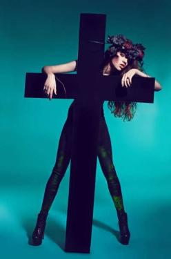 100 Religiously Inspired Fashions - From Religious Fashion Couture to Austere Convent Editorials (TOPLIST): Props Photography, Natalia Kontraktewicz, Fashion Idea, Mary Magdalene Marcin, Marcin Natalia, Kontraktewicz Shocks, Giggles Props, Cross