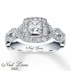 10yr Anniversary Ring! THIS IS THE RING I WANT SO BAD!! I actually just tried it on today! Neil Lane 1 ct tw Diamond Engagement Ring Princess-Cut 14K White Gold: Wedding Ring, 14K White, Neil Lane, Dream Wedding, White Gold, Neillane, Ct Tw, Princess Cut,