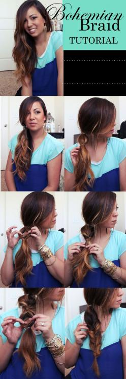 14 Amazing Pull Through Braid Hairstyles for 2014 - Pretty Designs: Bohemian Braid, Bohemian Hair Style, Hair Do, Long Hair Styles Tutorial