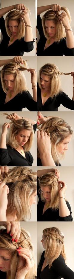 15 Cute, Easy Hairstyle Tutorials For Medium-Length Hair | Gurl.com: Hair Ideas, Hairstyles, Hair Styles, Makeup, Hair Tutorial