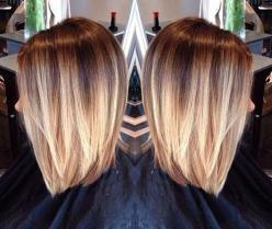 15 Short Blonde Ombre Hair | The Best Short Hairstyles for Women 2015: Hairstyles Color, Hair Styles, Haircolor, Hair Cut, Bob Cut, Haircut, Long Bob, Hair Color, Hair Colour
