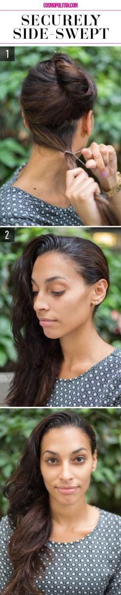 15 Super-Easy Hairstyles for Lazy Girls Who Can't Even   - Cosmopolitan.com: Hair Ideas, Awesome Hairstyles, Hair Styles, Lazy Girl Hairstyles, 15 Super Easy, Super Easy Hairstyles, Hairstyles For Lazy Girls, Beauty, Easy Hairstyles Long Lazy Girl