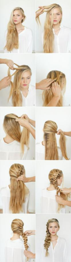 17 Romantic Hairstyle Ideas and Tutorials for the Aphrodite cabin: Sidebraid, Hairstyles, Hair Styles, Hair Tutorial