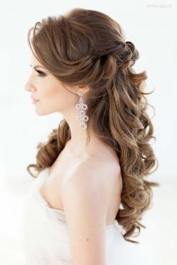 18 BrideAnd#8217;s Favourite Wedding Hairstyles For Long Hair ❤ See more: http://www.weddingforward.com/wedding-hairstyles-long-hair/ #wedding #bride: Wedding Idea, Bridal Hair Style, Hair Wedding Style, Quinceanera Hairstyle, Wedding Hairstyles, Long Wed