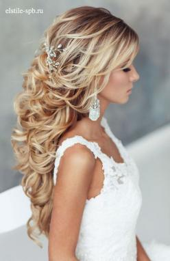 18 Stunning Half Up Half Down Wedding Hairstyles ❤ See more: http://www.weddingforward.com/half-up-half-down-wedding-hairstyles-ideas/: Curly Wedding Hairstyle, Long Hair Wedding Hairstyle, Down Hairstyle, Curly Hair Hairstyle, Wedding Hair Style, Wedding
