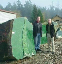 18 ton Nephrite Jade boulder found in Canada in 2000.Considered the world's largest piece of pure Jade.: Ton Nephrite, Worlds Largest, Buddha Statue, Canada, Rock, Jade Boulder