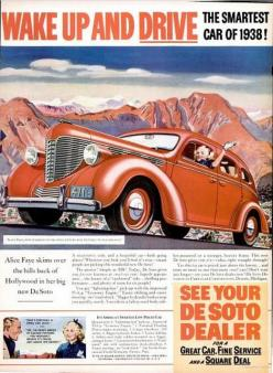 1938 Vintage Advert - De Soto Motor Cars  Makes driving look so easy - ha! Charmaine Zoe: Soto Motor, Vintage Advert