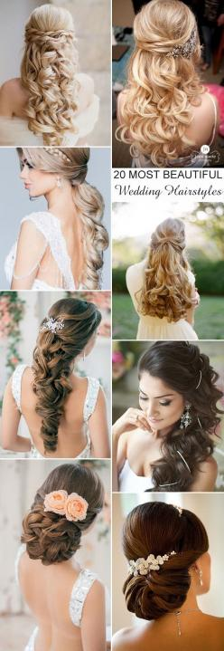20 most beautiful and elegant wedding hairstyles for long hairs: Long Hair Wedding Hairstyle, Long Hair Wedding Style, Elegant Wedding Hairstyle, Long Wedding Hairstyle, Hairstyles For Wedding