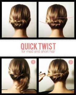 20 Ways To Take Your Short Hair To The Next Level - BuzzFeed Mobile: Short Hair, Twists, Hairstyles, Hairdos, Hair Styles, Medium Hair, Updo