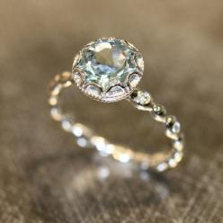 24 pretty engagement rings under $1,000, including this aquamarine beauty: Aquamarine Engagement Rings, Wedding Ring, Aquamarine Rings, Engagement Ring Band, Beautiful Engagement Ring, Diamond