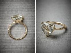 25 Unconventional + Affordable Engagement Rings via Brit + Co. Evergreen Hollow Ring ($770) (http://www.bhldn.com/shop-new/evergreen-hollow-ring): Triangle Engagement Ring, Affordable Engagement Ring, Unique Engagement Ring, Evergreen Hollow, Wedding, Rin