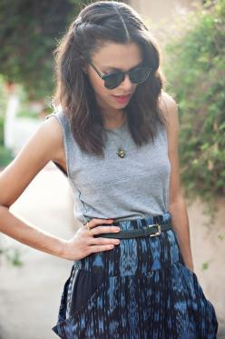 30 Gorgeous Shoulder Length Hairstyles To Try This Year | http://stylishwife.com/2015/06/gorgeous-shoulder-length-hairstyles-to-try-this-year.html: Aztec Skirt, Outfit, Hair Style, Boho Short Hairstyles, Hair Length, Hairstyles Illusionscolorspa, Shoulder