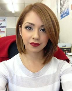 30 Short Hairstyles for Winter: Easy Straight Haircut for Girls - I love that this is asymmetrical!: Straight Haircut, Hair Cut, Hair Style, Long Bob, Hair Color