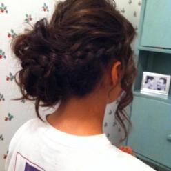 """the braid and bun combo never goes wrong"" hahaha that was the comment for the last person who pinned this. Ha! Have u seen MY braided buns?: Braided Updo, Bridesmaid Hair, Hair Styles, Up Do, Prom Hairstyles, Updos, Messy Buns, Braided Bun"