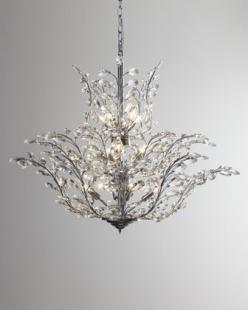 """Upside Down"" Crystal Chandelier at Neiman Marcus.: Decor, Crystals, Dining Room, Crystal Chandeliers, Lighting, 18 Light Crystal, Master Bedroom, Upside, Neiman Marcus"