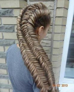 37 Seriously Intense Braided Hairstyles Only Daenerys Targaryen Could Pull Off #braids #hair: Double Fishtail, Dutch Fishtail, Hair Styles, Braids, Braided Hairstyles, Thick Braid, Awesome Hairstyle