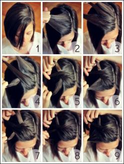 4 Easy Half Up Hairstyles You Can Do in Less than 5 Minutes | Hairstyles |Hair Ideas |Updos: Hair Ideas, Hairstyles, Hairdos, Hair Styles, Short Hair Style, Haircut, Short Hair Tutorial