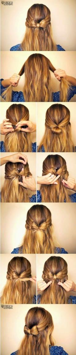 5 Cute Easy Hairstyles Tutorial:How To | Hairstyles |Hair Ideas |Updos: Hair Ideas, Easy Step By Step Hairstyle, Hairstyles, Hair Styles, Cute Hairstyle, Hair Bows