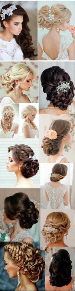 5 Glamorous Wedding Updos for 2015: Updo Hairstyles For Weddings, Cool Hair Style, Glamorous Updo, Amazing Updo, Glamorous Wedding, Second Wedding Dress, 2015 Updo, Wedding Hairstyles, Bride