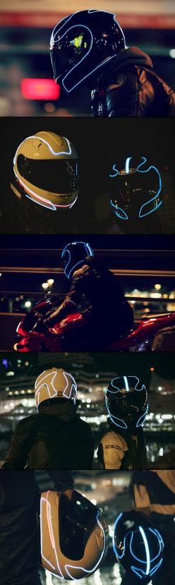 5 Images of a TRON-Inspired Motorcycle Helmet Designed to Keep Riders Safe: Motocycle Helmet, Cool Motorcycle, Riders Safe, Motorcycle Helmet Design, Custom Motorcycle Helmet, Motorcycle Helmets, Tron Inspired Motorcycle