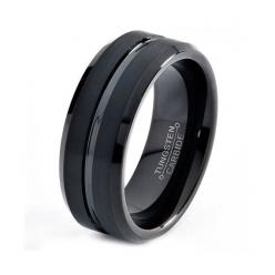 $57.77  Etsy listing at http://www.etsy.com/listing/151797696/black-tungsten-ring-black-men-tungsten: Wedding Ring, Mens Wedding Band, Men'S Wedding Band, Black Weddings, Beautiful Wedding Band, Wedding Band Men, Black Wedding Bands